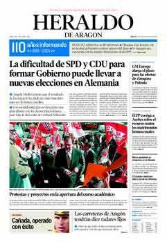 felicidades a Heraldo de Aragón